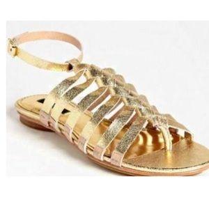 Rachel Zoe gold leather Carlisle gladiator sandal